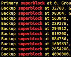 Суперблок в линуксе
