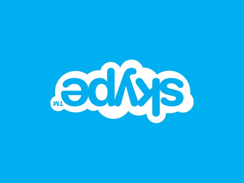 Перевернутое изображение Skype
