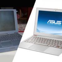 ноутбуки тогда и теперь